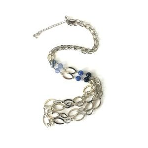 NY & Co Blue and Silver Necklace